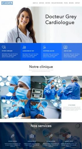Site vitrine exemple médical